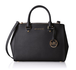 MICHAEL KORS Sutton Medium Satchel Cross body Woman Bag Black Color