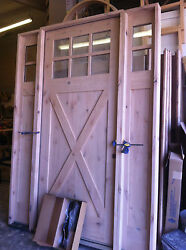 Knotty Alder Shaker Craftsman Style Entry Door 3/0 X 8/0 With Sidelights