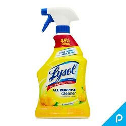 Lysol All Purpose Cleaner Spray Lemon Breeze 32 oz Pack of 4