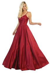 SPECIAL OCCASION FORMAL GOWN DESIGNER RED CARPET EVENING PROM DRESS WITH POCKETS