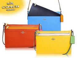 New Coach Crossbody. Women Signature File Bag. Authentic Leather.