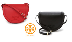TORY BURCH Serif-T Saddle Cross Bag for Woman with Free Gift