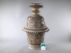 Chinese Tibet Temple Buddha Flower Vase / Large and Heavy H 58[cm] 21.4kg
