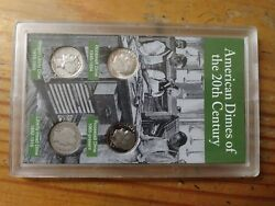 1997 American Dimes Of The 20th Century 4 Coin Set