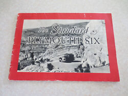 Original 1933 Plymouth Standard Six Automobiles Advertising Booklet
