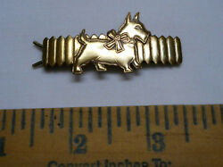 Vintage Scottish Terrier Scottie Scotty Dog Metal Barrete Brass Hair Clip
