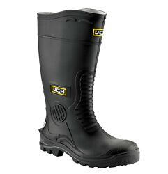 JCB HYDROMASTER Safety Wellington Work Boots Black (Sizes 7-12) Men's Wellies