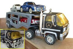 Vintage King Size Tonka Truck Tin Toy... Mercedes Actros 4 Friction Car Carrier