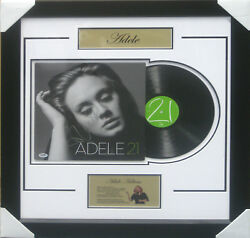 Adele Adkins Signed And Framed Vinyl 21 Album Psa Aa05895 Home Of The Real Deal