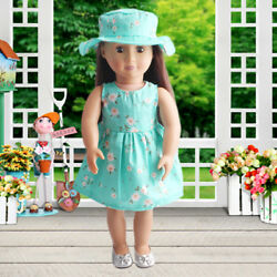 Fashion Summer Floral Dress Party For 18 Inch Girl Doll Clothes Accessory $3.35