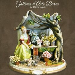 Capodimonte Porcelain Seller Flowers Flower Girland039 That A Sightand039