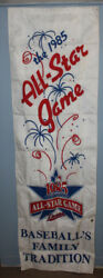 Vintage 1985 All Star Game Minnesota Twins 84x26 Double Sided Banner