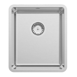 Abey Lucia Stainless Steel Single Bowl Sink 380x440mm +drain Tray Aust Brand