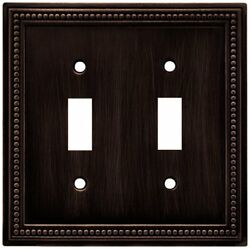 Brainerd 64409 Beaded Double Toggle Switch Wall Plate  Switch Plate  Cover