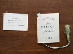 1936 1938 New Mexico Military Institute Nmmi Roswell Final Ball Card And Program