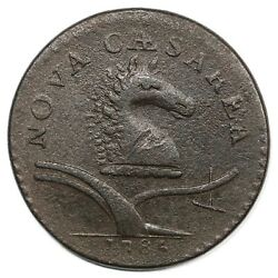 1786 12-g R-5 No Coulter New Jersey Colonial Copper Coin