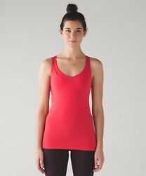 LULULEMON Deep Breath Tank Top - Red - Lush Coral - Size 10