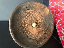 Old Papua New Guinea Abelam Carved Child's Spinning Top …beautiful And Unique...