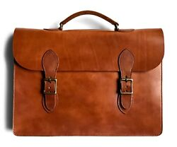 Laptop Attache Case Mens Messenger Bag Leather Lawyer Womens Briefcase  Wallet