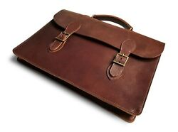 Messenger Laptop Attache Case Mens Bag Leather Lawyer Womens Briefcase  Wallet