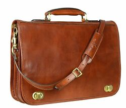 Lawyer Laptop Attache Case Mens Messenger Bag Leather Womens Briefcase  Wallet