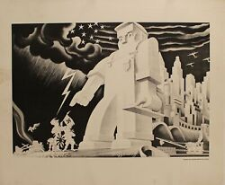 1943 Wickwire Spencer Steel Company - War Production Illustrated Poster