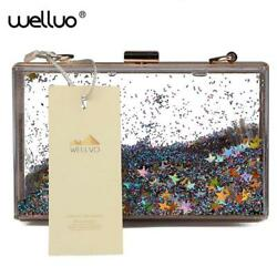Transparent acrylic purse acrylic clutch bags evening clutch bags women bags fas