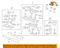 2010-2015 Camaro Parking Brake Lever W/bracket And Cable Chrome Button 22747943