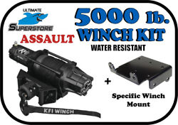 Kfi 5000lb. Assault Wide Winch Mount Kit And03912-and03917 John Deere Gator Rsx 850i 860i
