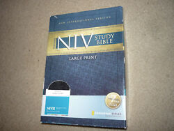 Zondervan Niv Study Bible, Large Print Indexed Leather