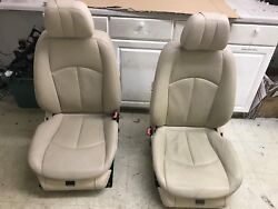 OEM MERCEDES BENZ E550 W211 SET FRONT LEFT & RIGHT SIDE HEATED AC COLD SEATS TAN
