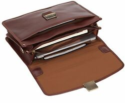 Case Mens Laptop Messenger Bag Leather Lawyer Womens Briefcase Attache  Wallet