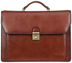 Briefcase Attache Case Mens Laptop Messenger Bag Leather Lawyer Womens  Wallet