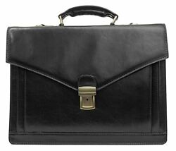 Lawyer Womens Briefcase Attache Case Mens Laptop Messenger Bag Leather  Wallet