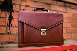 Womens Briefcase Lawyer Attache Case Mens Laptop Messenger Bag Leather  Wallet