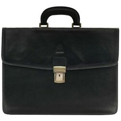 Attache Case Lawyer Womens Briefcase Mens Laptop Messenger Bag Leather  Wallet