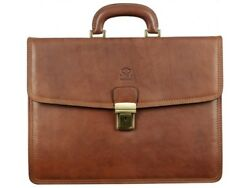 Messenger Bag Lawyer Womens Briefcase Attache Case Mens Laptop Leather  Wallet