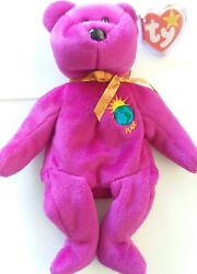 Millennium beanie baby...mint condition...1999 TY with SOFT RIBBED COPPER ribbon