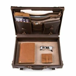 Briefcase Lawyer Womens Mens Messenger Bag Leather Laptop Case Attache Catalog