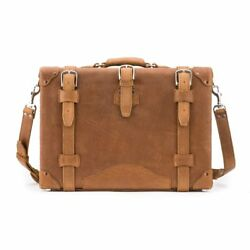 Case Lawyer Womens Mens Messenger Bag Leather Briefcase Laptop Attache Catalog