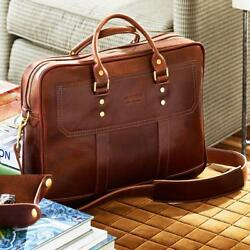 Attache Catalog Case Lawyer Womens Mens Messenger Bag Leather Briefcase Laptop