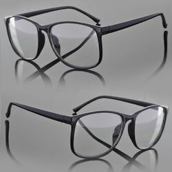 Designer Large Retro Clear Lens Nerd Frames Glasses Men Women Eyewear Fashion $9.89