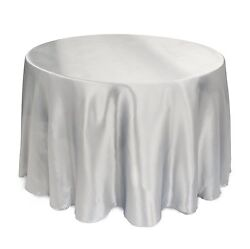 25 Packs 120 Inch Round Satin Tablecloth Wedding 25 Color 5' Ft Table Usa Sale