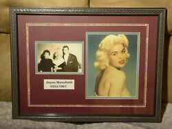 Jayne Mansfield Rare Hand Signed Photo Professionally Matted And Framed With Coa