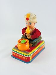 Battery Operated Snake Charmer And Casey The Trained Cobra Linemar Toys Japan Marx