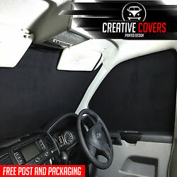 Vw T5 Transporter Interior Front Blind Kit Curtains Provides Full Black Out