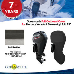 Oceansouth Outboard Full Storage Cover For Mercury 4cyl 2.1l 75hp-115hp 25 Leg
