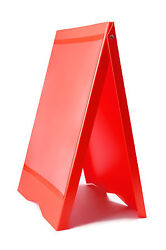 A-BOARD PAVEMENT SIGN MENU SANDWICH BOARD SHOP SIGN FOR A2 SIZE POSTERS RED