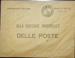 O 1895 Italy Of The Post To Province Xf