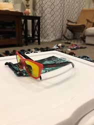 Oakley Frogskin Red Black Fire Iridium Heritage Collection $70.00